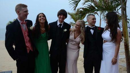 From left, Patrick O'Brien, 17, Dominique Ehlinger, 18,