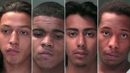 From left: Osman Flores, 20, of Central Islip,