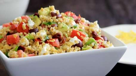 Cooked freekah, or toasted cracked green wheat, is