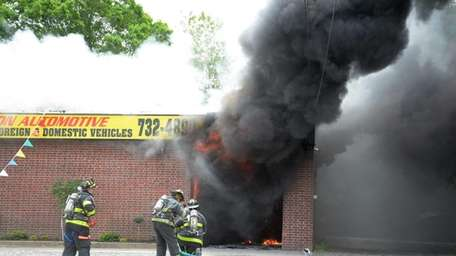 Coram firefighters respond to a fire at Dan's