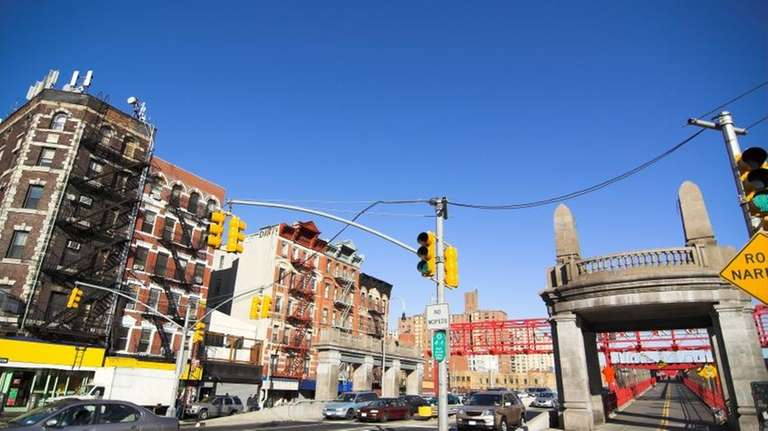 Lower East side NYC. Entrance to the Williamsburg