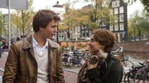 Actors Ansel Elgort and Shailene Woodley in