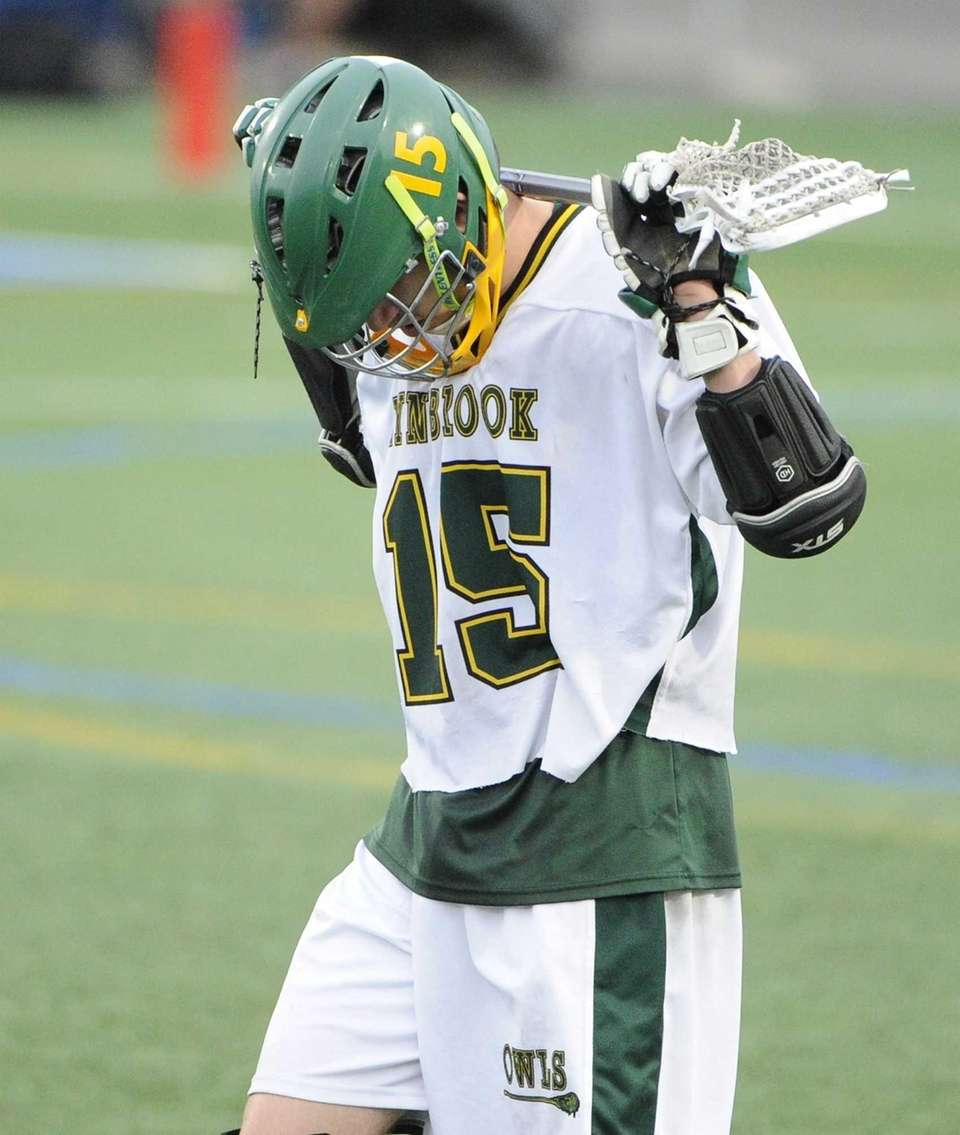 Lynbrook attacker Joe Grossi reacts to Yorktown's win