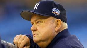 Yankees bench coach Don Zimmer watches his team