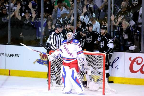 Kyle Clifford of the Los Angeles Kings celebrates