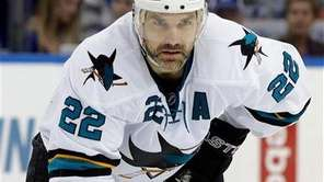 San Jose Sharks defenseman Dan Boyle (22) against