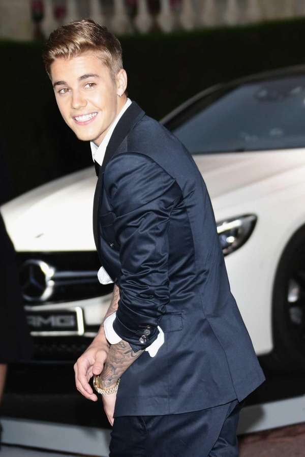 Justin Bieber attends amfAR's 21st Cinema Against AIDS