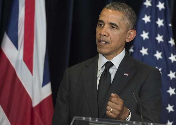 President Barack Obama speaks during a joint press