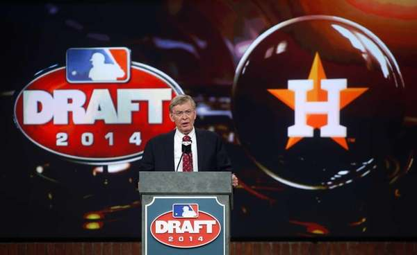 MLB commissioner Bud Selig announces that the Houston