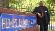 Hempstead High School principal Reginald Stroughn outside the