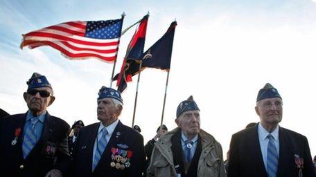 From left, World War II veterans of the
