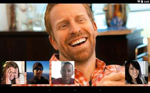 A publicity photo of Google's Hangout video chat