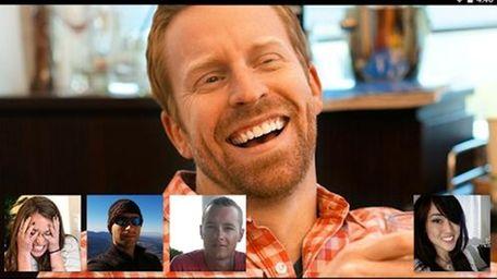 A publicity photo of Google's Hangout video chat