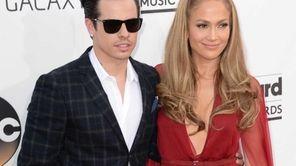 Choreographer Casper Smart and Jennifer Lopez arrive at