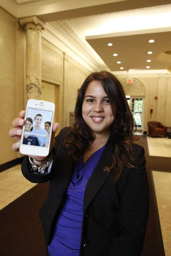 Adelphi University nursing graduate Samantha Avila, on Adelphi's