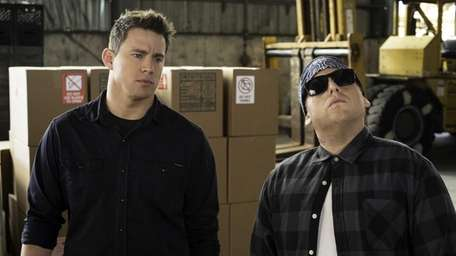 Jonah Hill, right, and Channing Tatum in Columbia