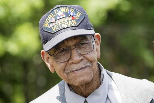 WWII veteran Jerry Lee, 89, of Westbury, attended