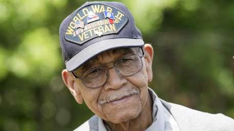WWII veteran Jerry Lee, 89, of Westbury, attended