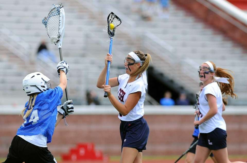Cold Spring Harbor attacker Samantha Debellis dodges to