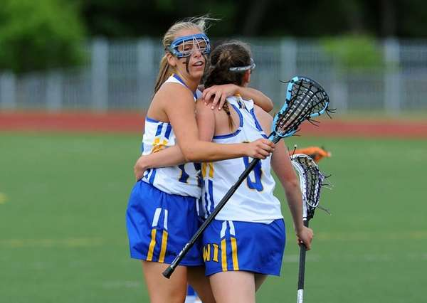 West Islip midfielder Lindsay Darrell and attacker Emily