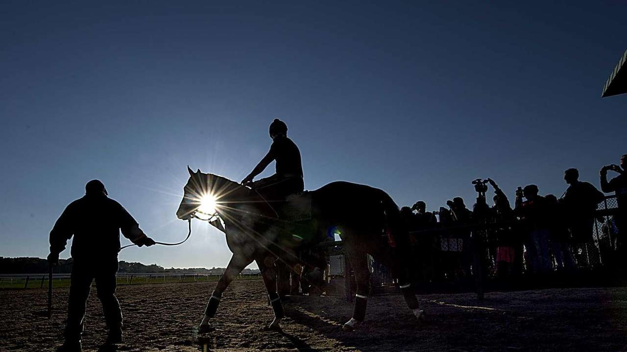 Triple Crown hopeful California Chrome and exercise ride