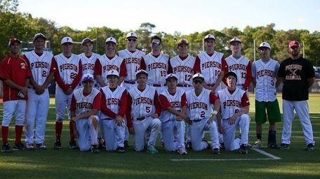 The Pierson/Bridgehampton baseball team poses for a picture