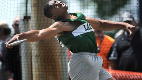 Longwood's Dennis Russell competes in the Division I