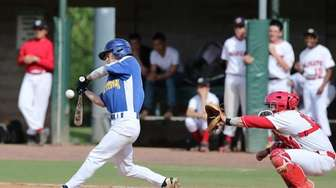 Mattituck's Joe Tardif bats in the second inning