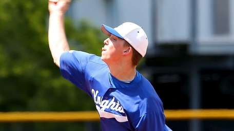 Smithtown Christian starting pitcher Jack Palma delivers against