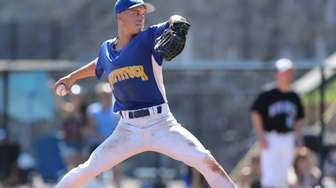 Mattituck's Joe Tardif pitches in relief in the