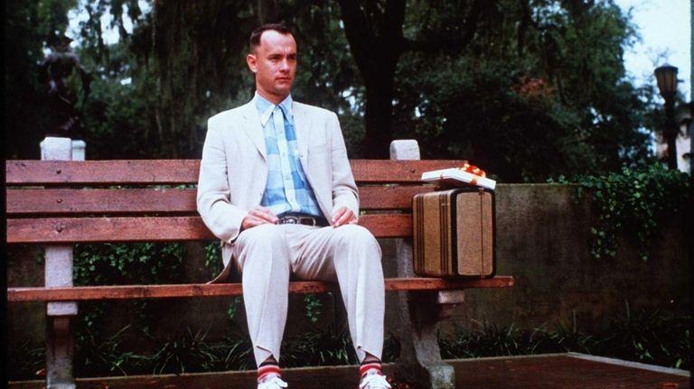 Tom Hanks is shown as Forrest Gump.