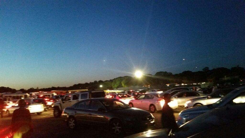 An image of the traffic jam following the