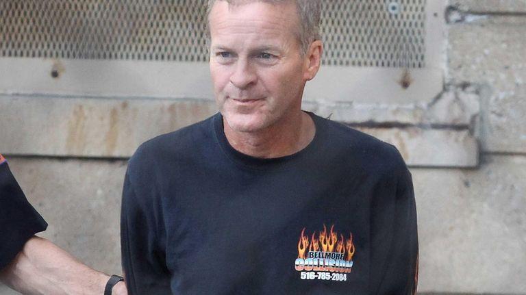 Michael Marron, of Seaford, leaves Nassau County Police
