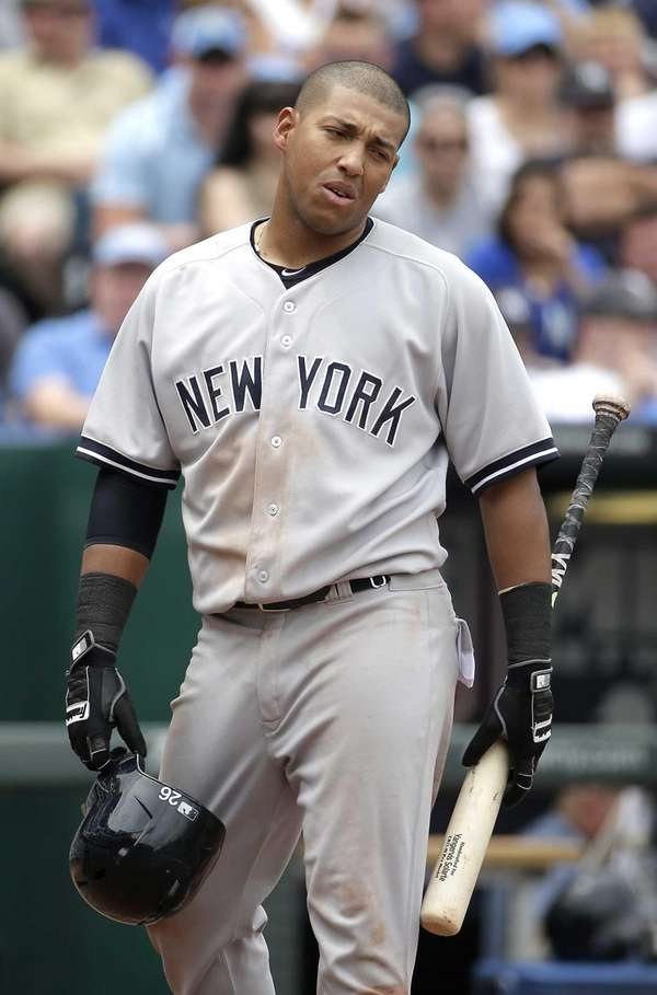 The Yankees' Yangervis Solarte reacts after striking out