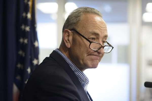 U.S. Senator Charles E. Schumer holds a news