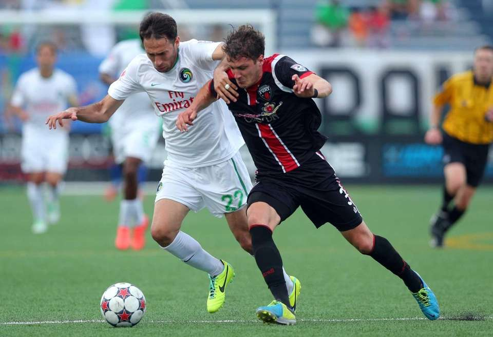 Cosmos forward Alessandro Noselli #22 and Ottawa Fury