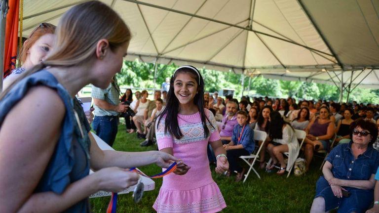 Smiti Shah, an eighth-grader at JFK Middle School