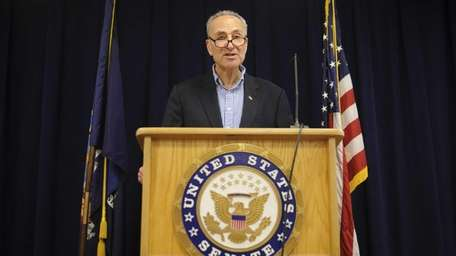 Sen. Charles E. Schumer holds a news conference
