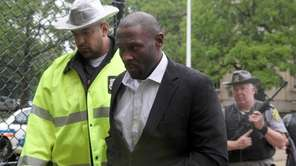 Darrell Fuller arrives at the Nassau County Court