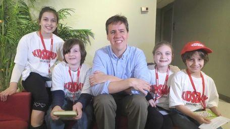 Kidsday reporters met author and illustrator Jeff Kinney