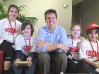 Kidsday reporters met author and illustrator Jeff Kinney