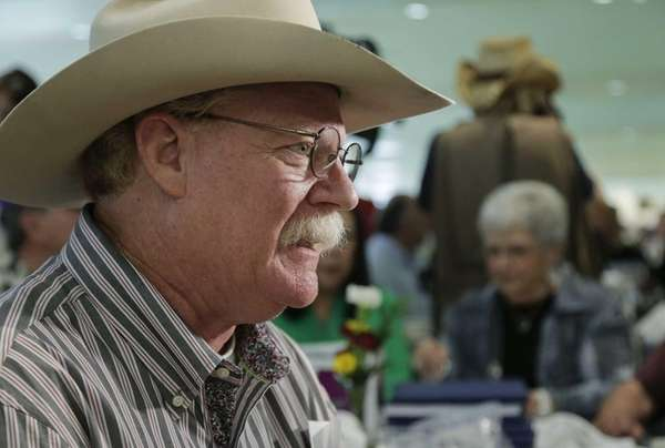 California Chrome co-owner Steve Coburn answers questions during