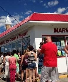 School lets out and Marvel Frozen Dairy in