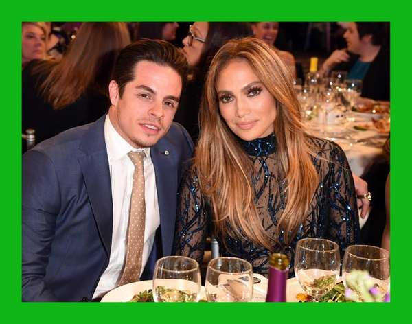 Jennifer Lopez and Casper Smart attend the 25th