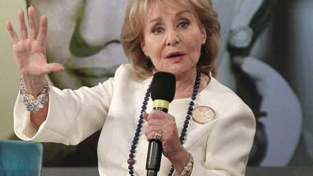 Barbara Walters speaks during a taping of her