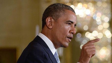 President Barack Obama speaks on Monday, June 9,