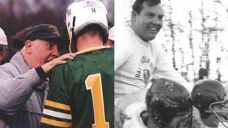 (Left) Bill Martens speaks to a lacrosse player