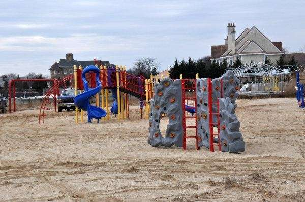 The playground at Benjamin Beach.