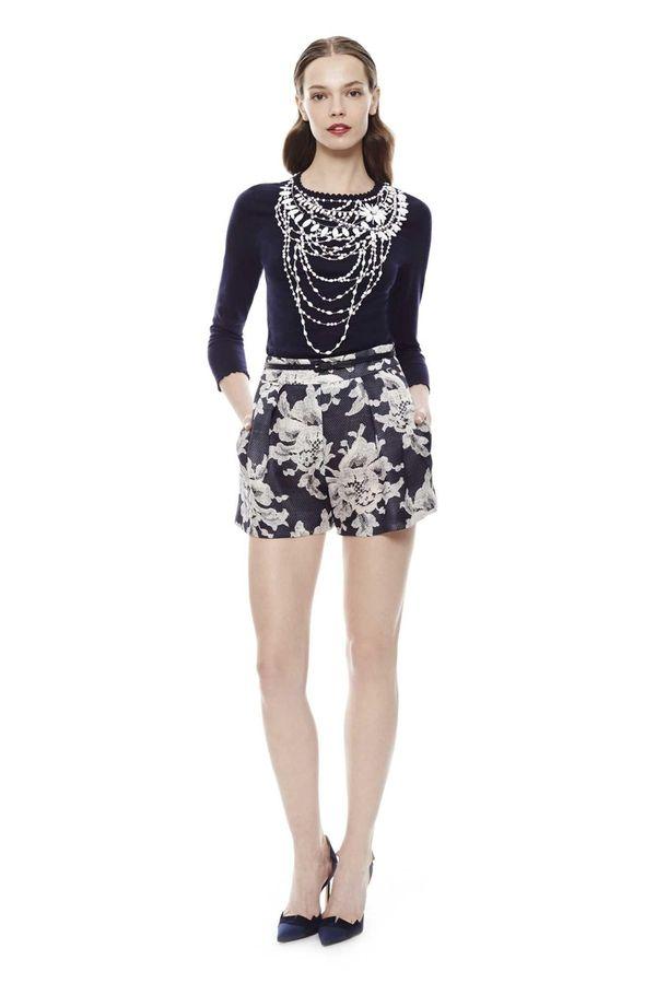 Sporty floral shorts from Carolina Herrera.
