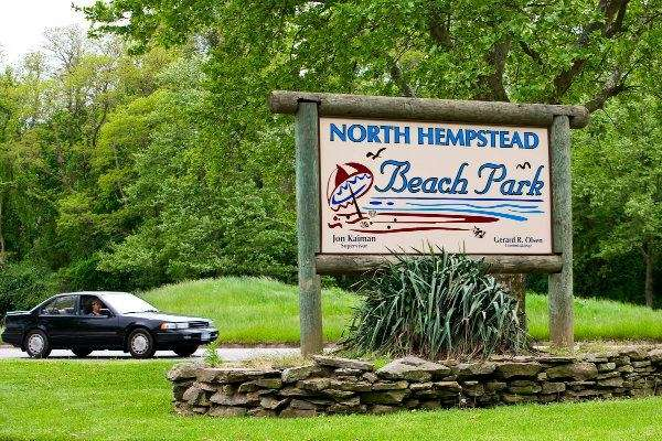 The sign at North Hempstead Beach Park.
